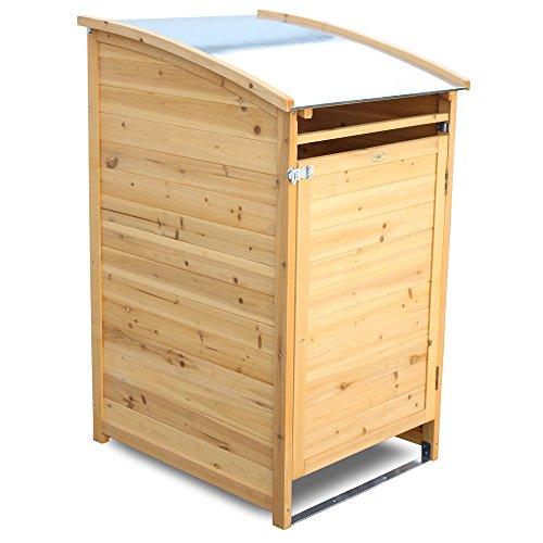 Habau Mülltonnenbox aus Holz (120 Liter)