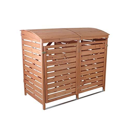 Mülltonnenbox Holz für 2 Mülltonnen je 240l